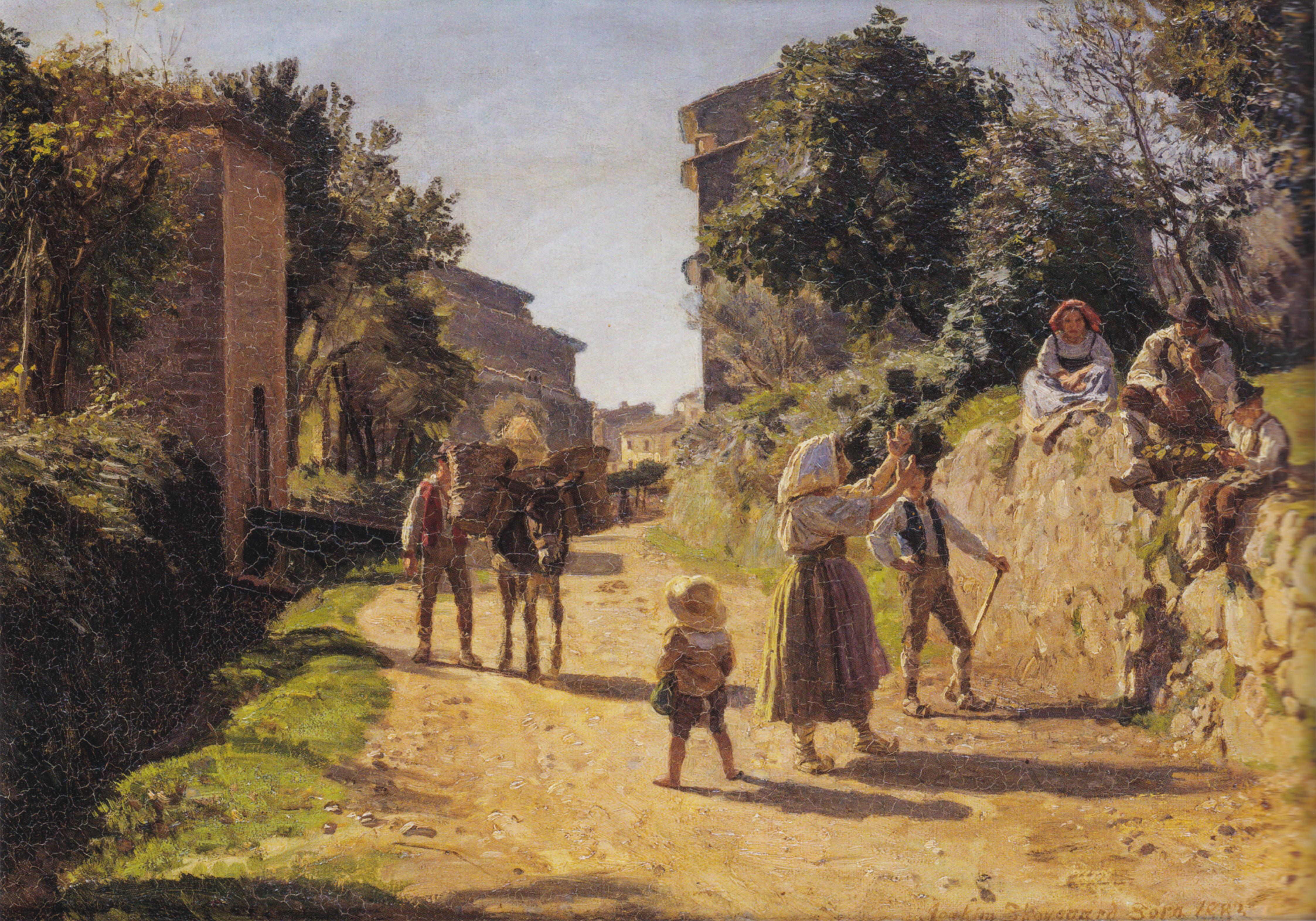 File:Joakim Skovgaard - I udkanten af Sora  Italien - 1883