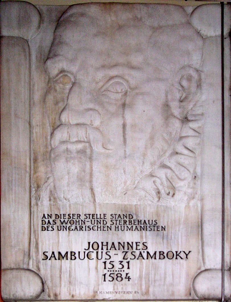 Johannes Sambucus plaque in Wien.jpg