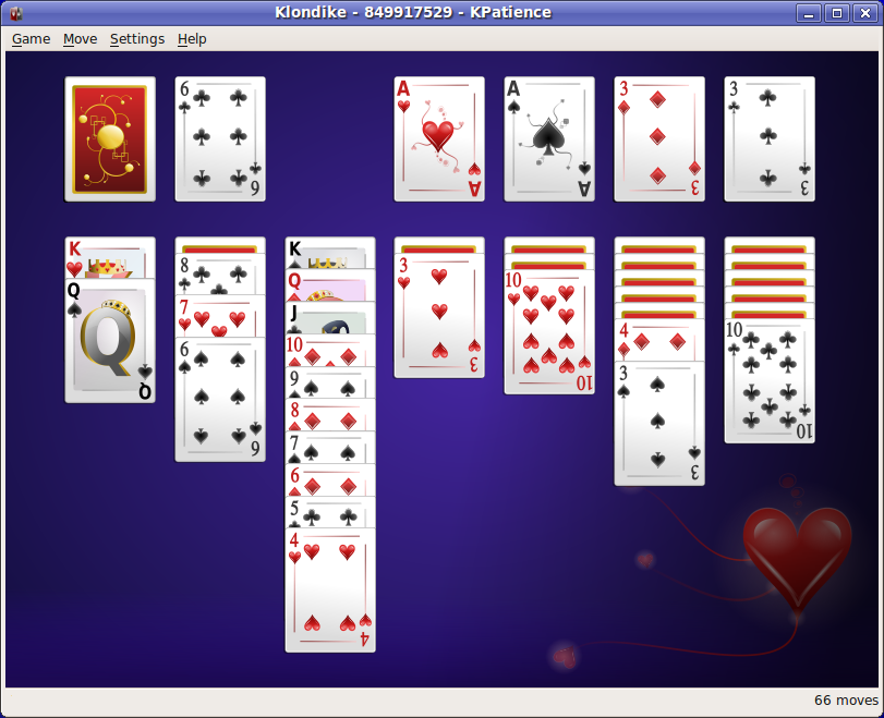 Picture of a game: Solitaire