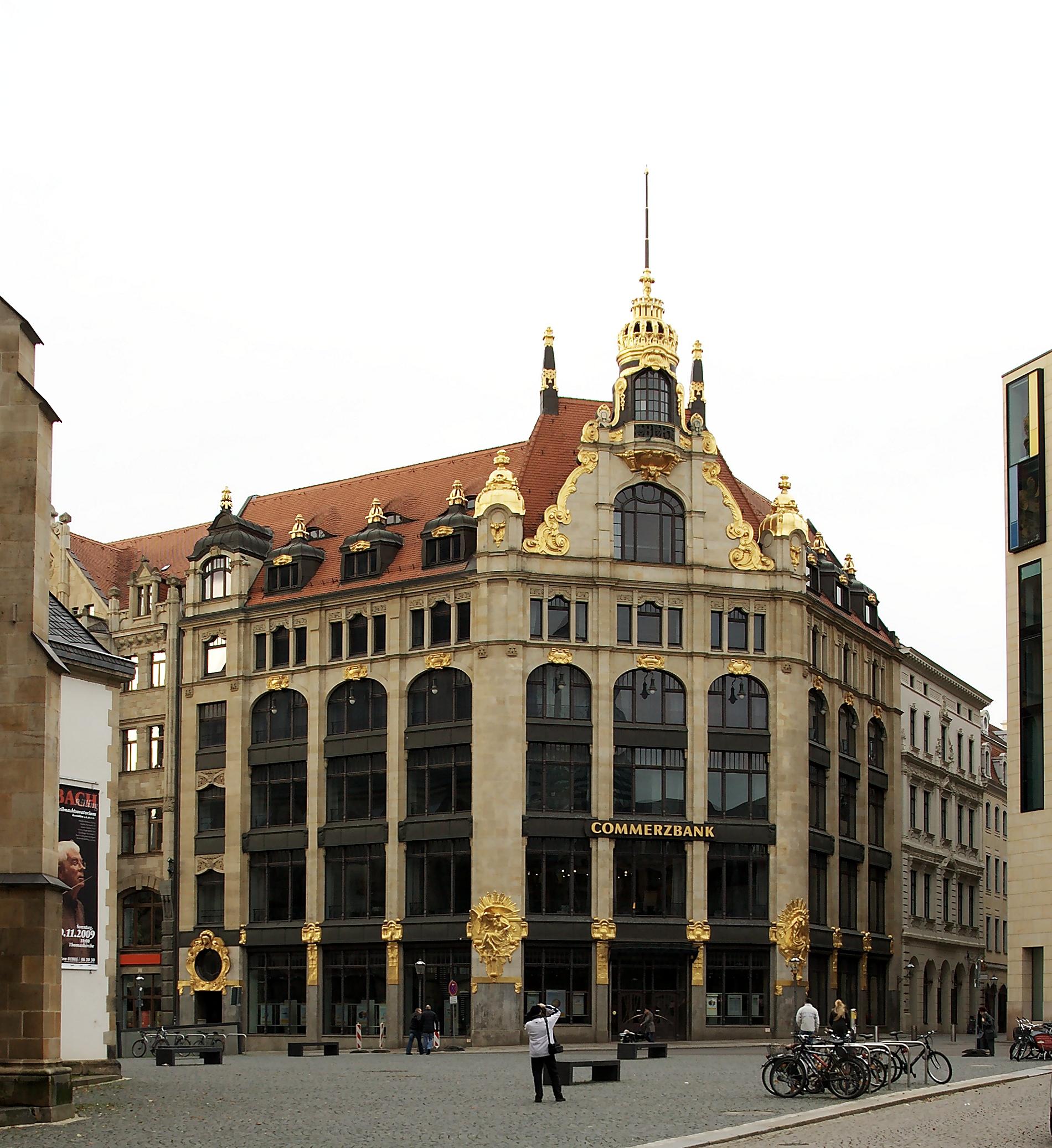 Nutzung des Hauses »Topas« (aktuelles Commerzbank-Gebäude) in Leipzig innerhalb der letzten paar Jahre (erstmal gelöst)