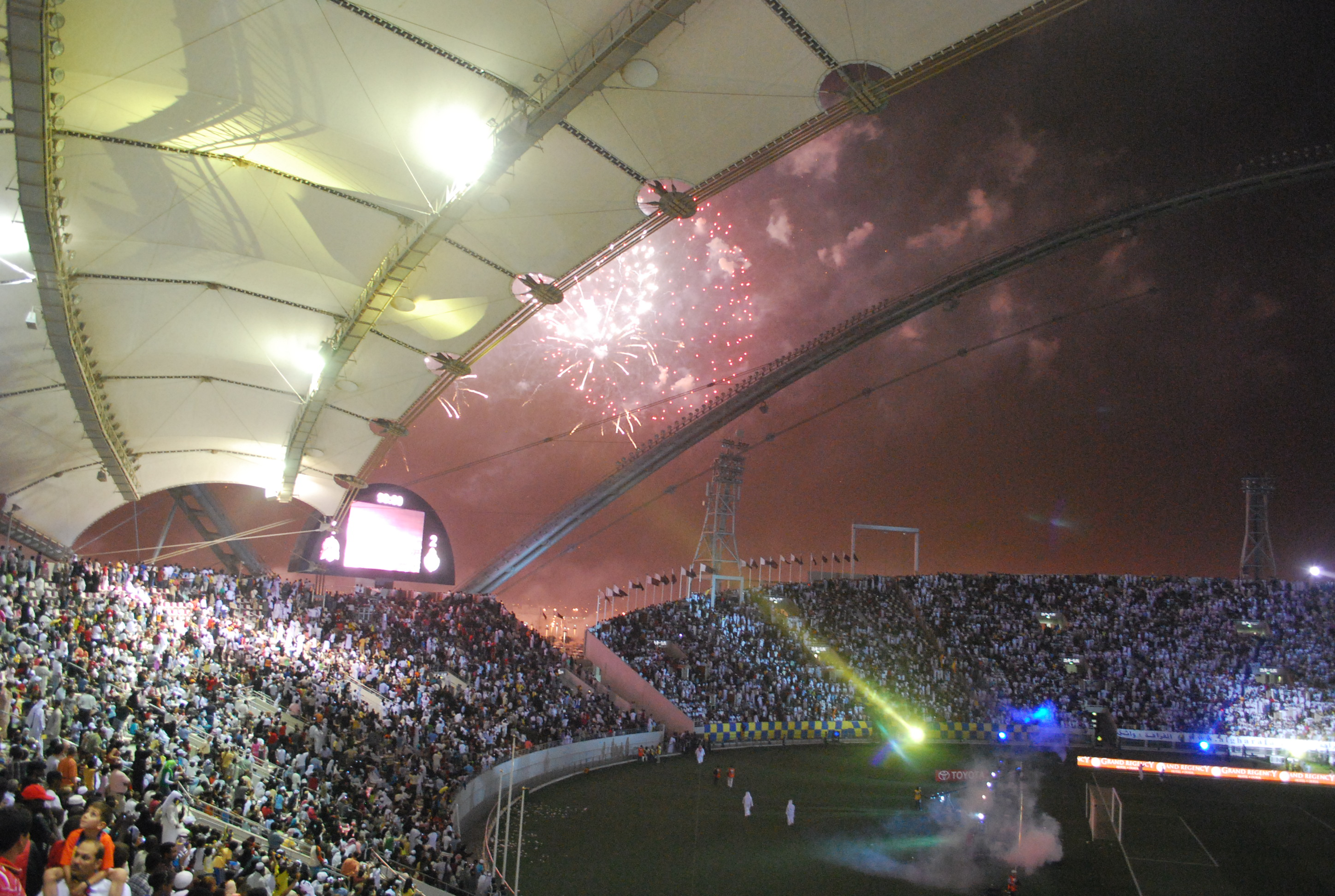 Khalifa International Stadium interior night 2009 Emir Cup.jpg
