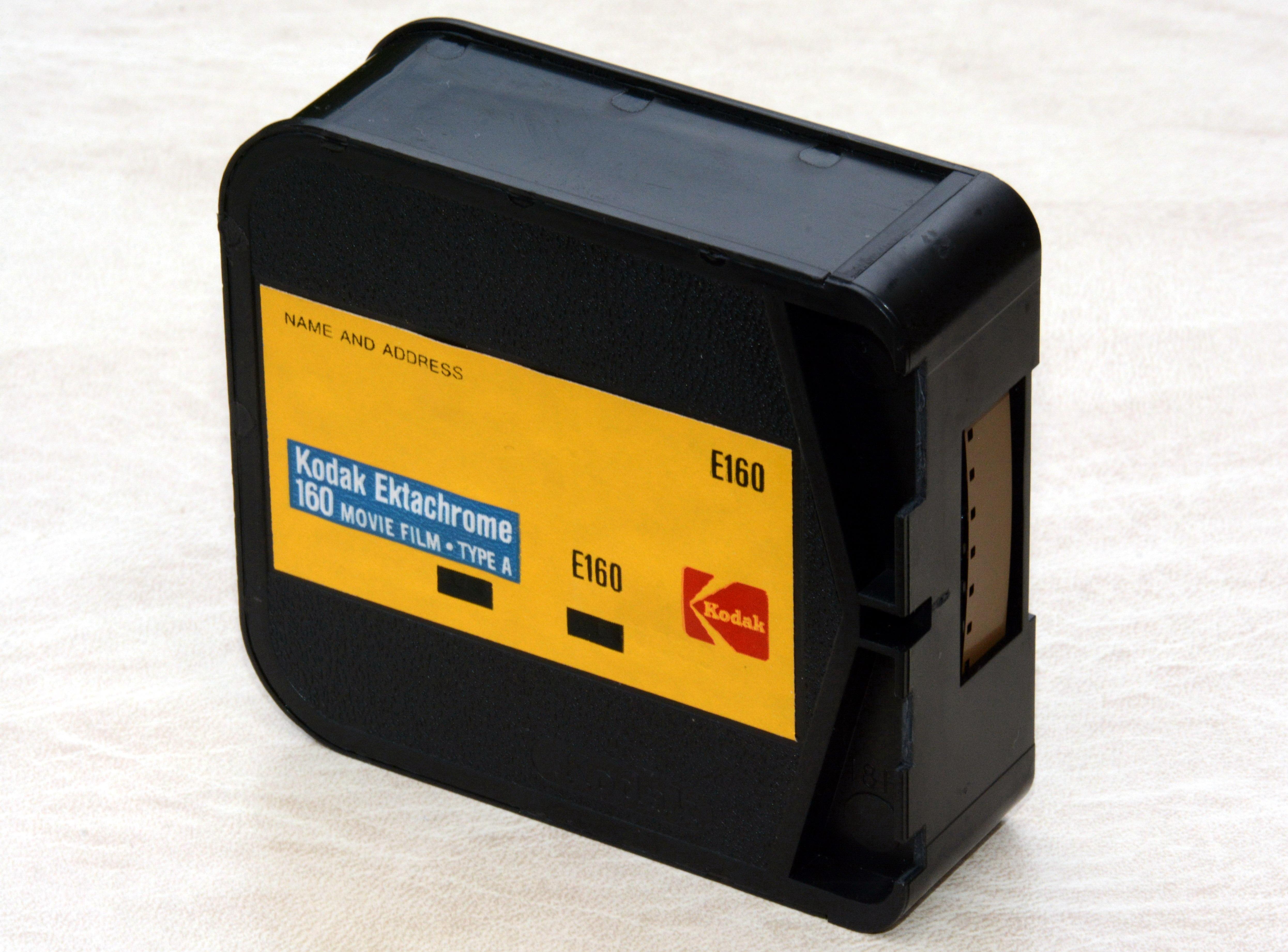 file kodak ektachrome 160 type a super 8 film cartridge. Black Bedroom Furniture Sets. Home Design Ideas