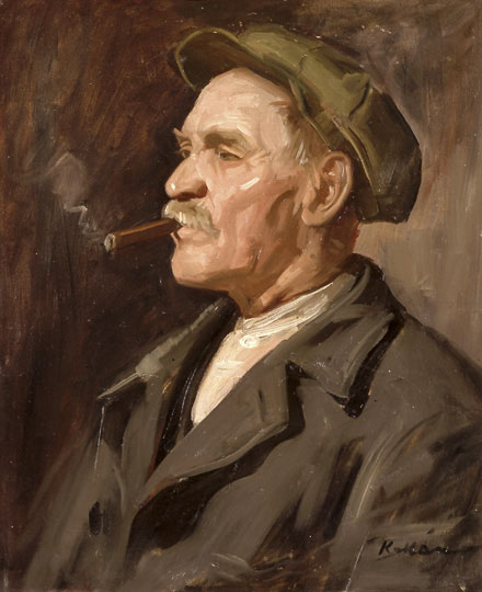 file kukán portrait of a man smoking a cigar jpg wikimedia commons