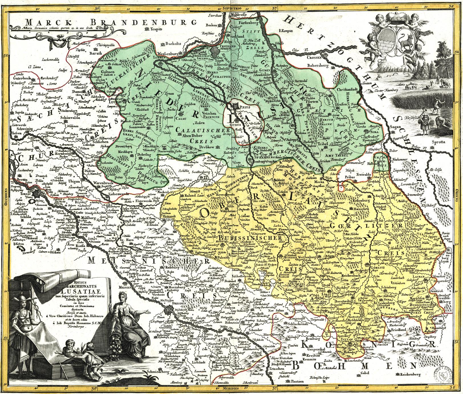 Description lausitz map 18thc