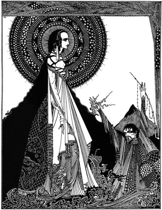 Ligeia, de Harry Clarke. Imagen de Wikimedia Commons.