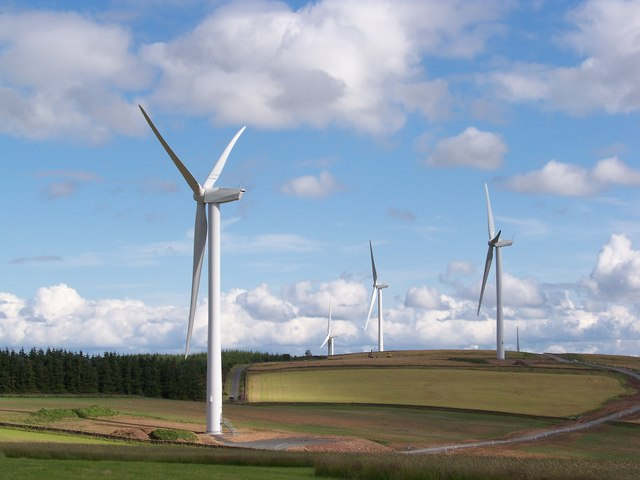 Longpark Wind Farm - geograph.org.uk - 1406818