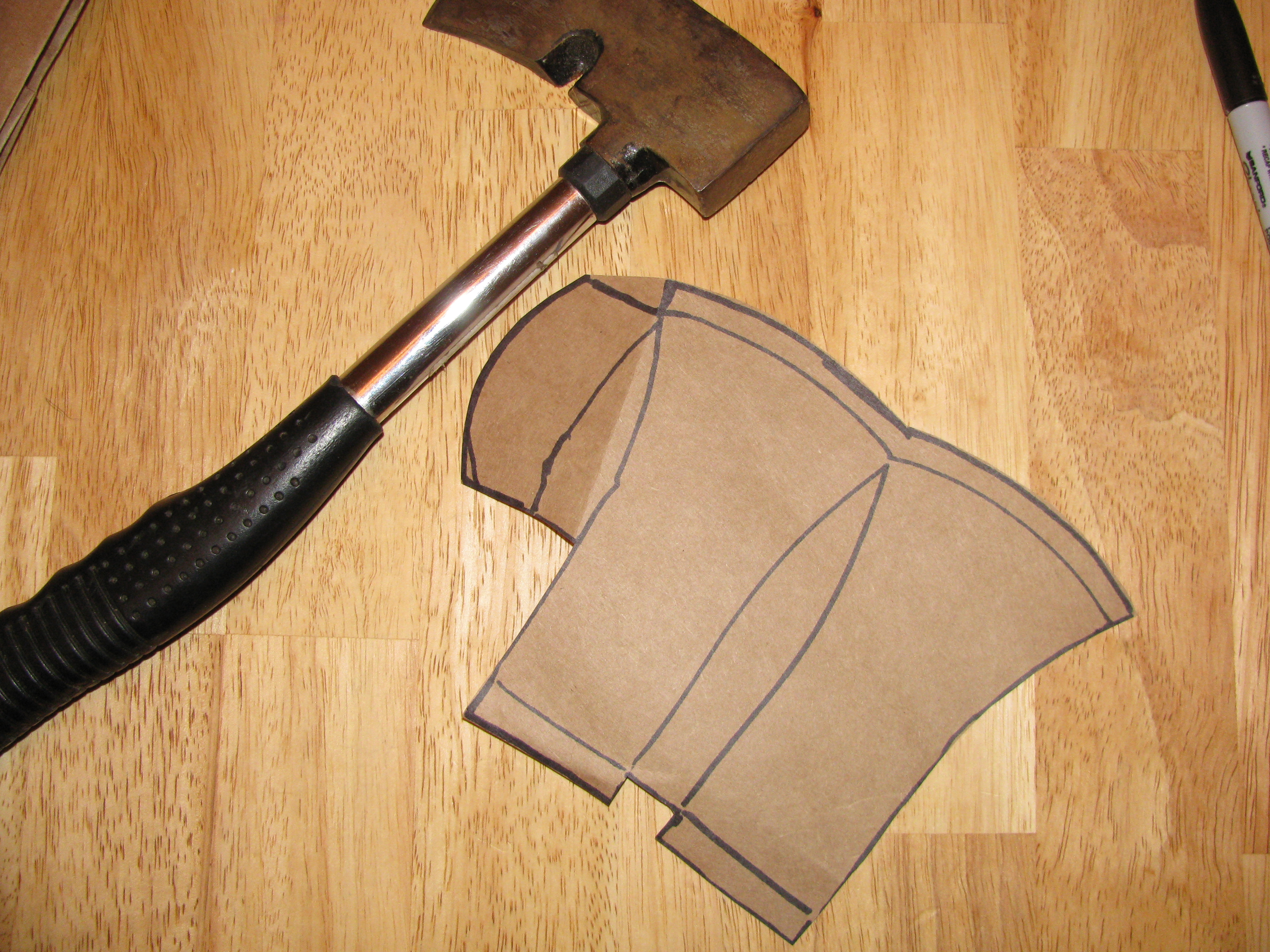 file making a hatchet sheath 05 jpg wikimedia commons