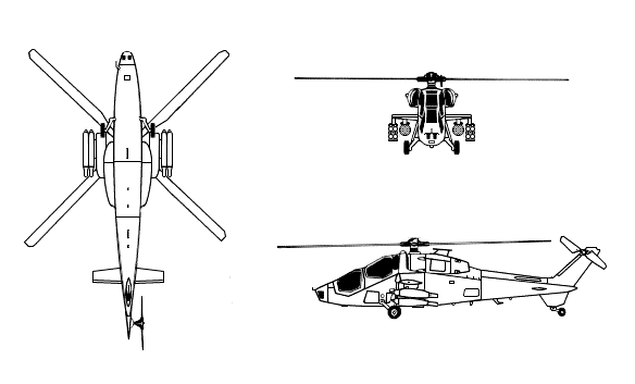 Line drawing for original A129 Mangusta