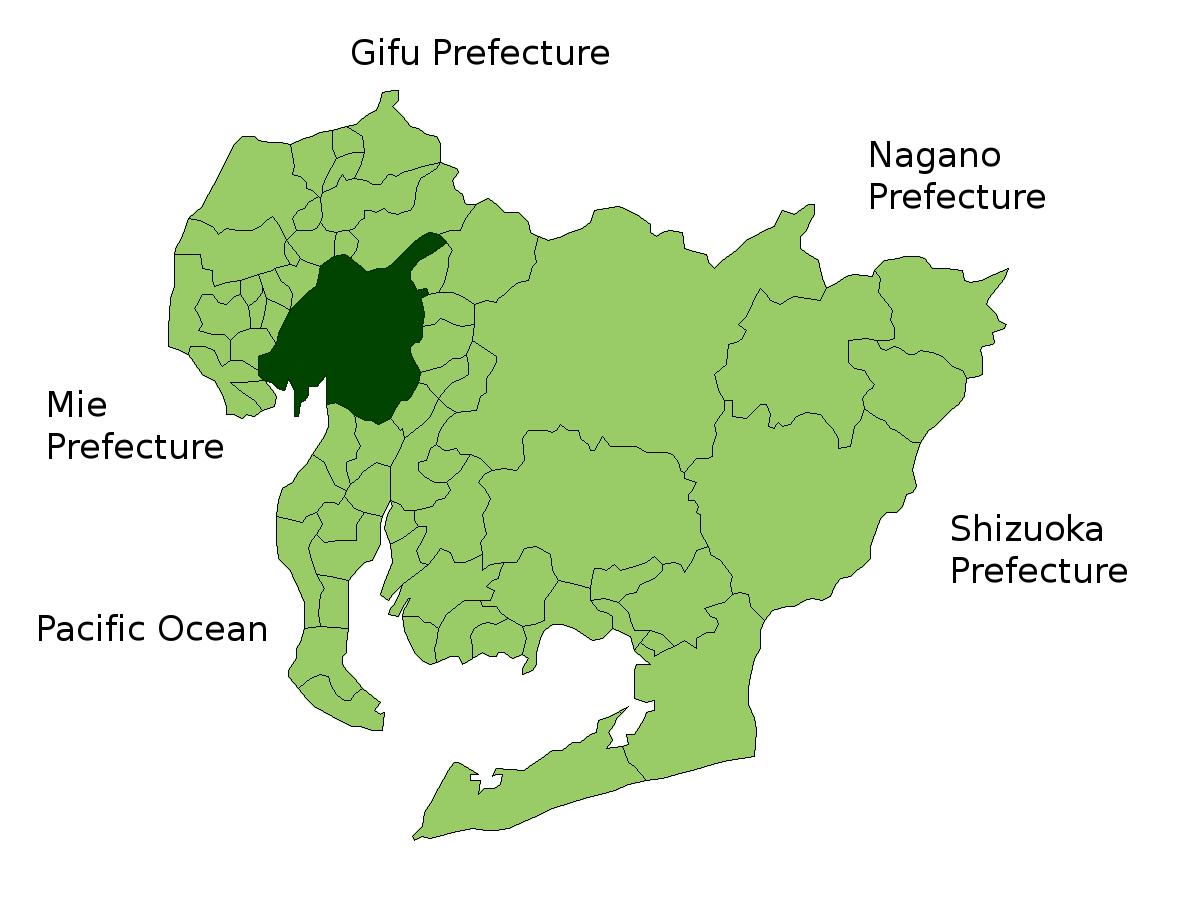 Nagoya Aichi Wikipedia - Japan map aichi