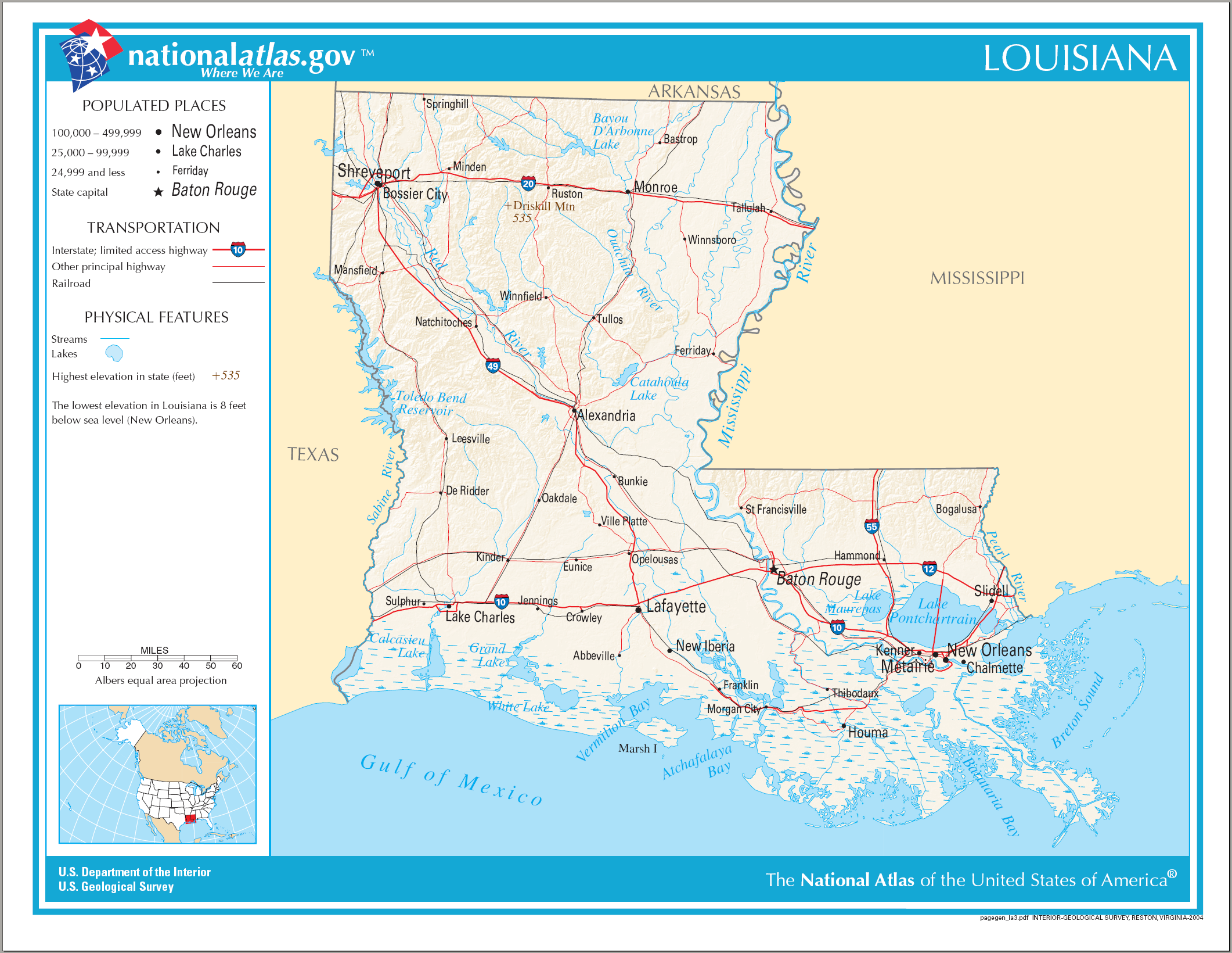 Current Map Of Louisiana.File Map Of Louisiana Na Png Wikimedia Commons
