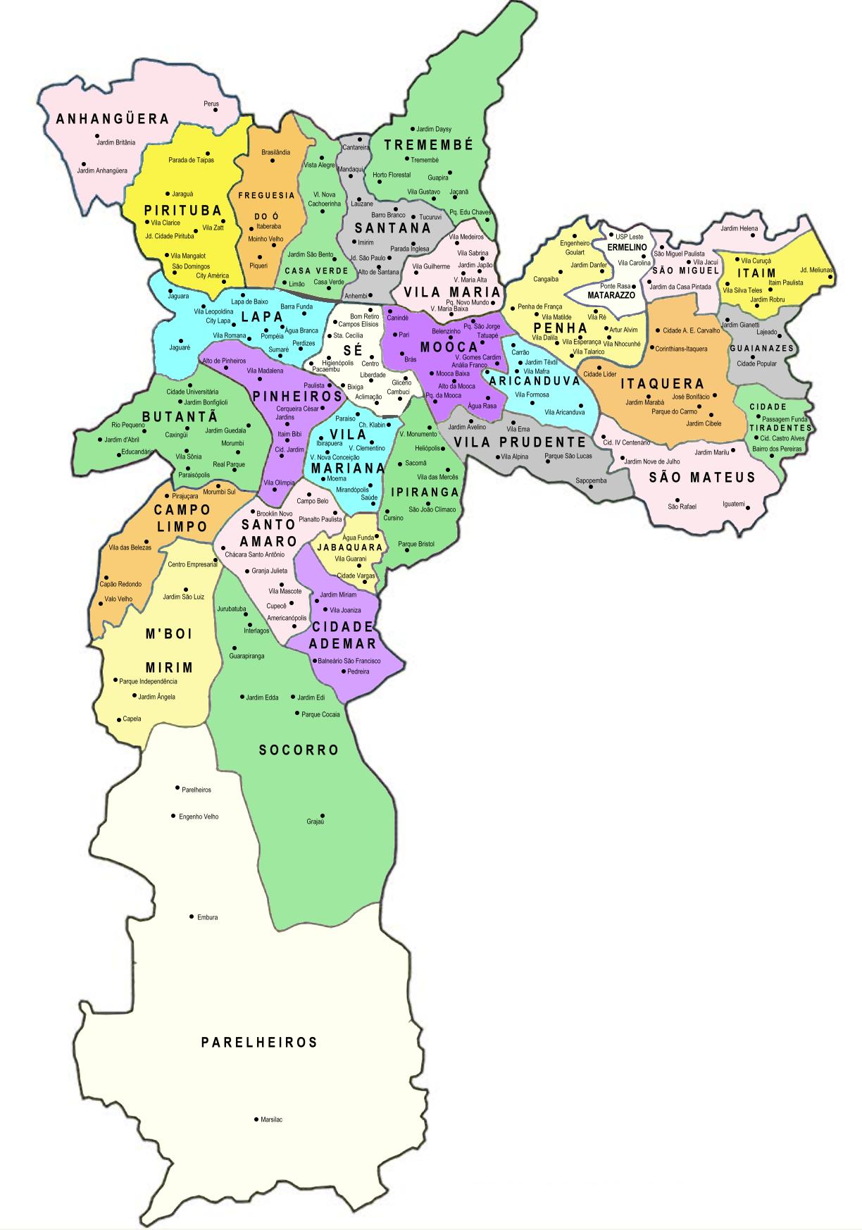 Hamburgueria Artesanal Zona Norte Sp ~ Divis u00e3o territorial e administrativa da cidade de S u00e3o Paulo u2013 Wikipédia, a enciclopédia livre