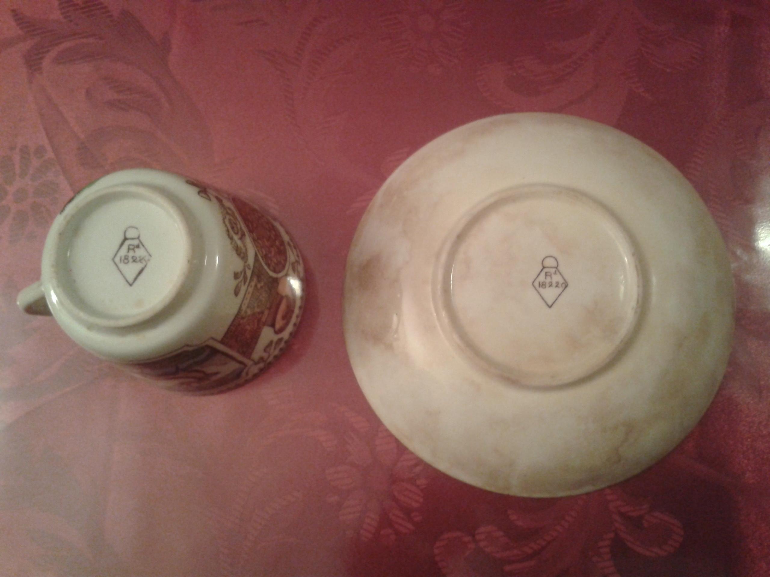 File marcas de porcelana en el reverso del juego de t de for Marcas de porcelana