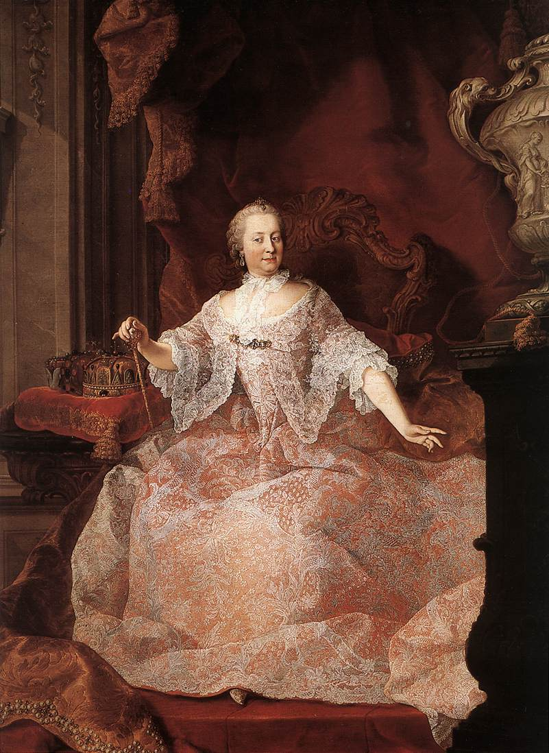 Martin van Meytens paints Empress Maria Theresa (1744) in pink and