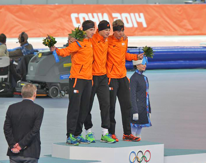 Men's 5000m, 2014 Winter Olympics, Podium