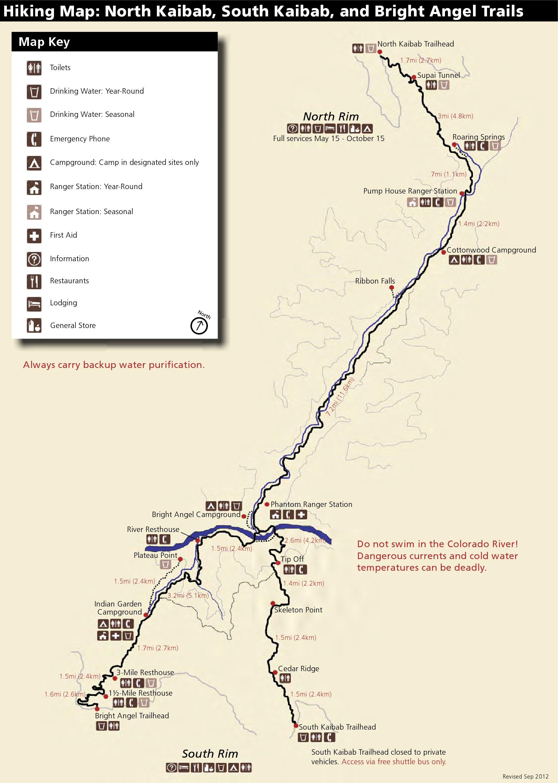 FileNPS Grandcanyonhikingmapjpg Wikimedia Commons - Grand canyon us map