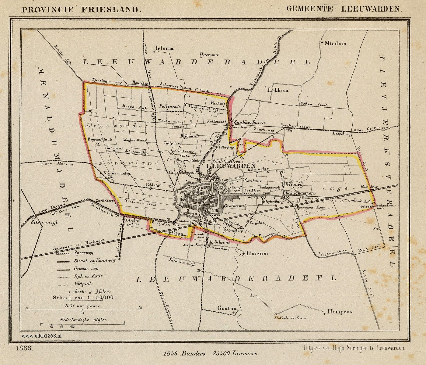 FileNetherlands Leeuwarden map of 1866jpg  Wikimedia Commons