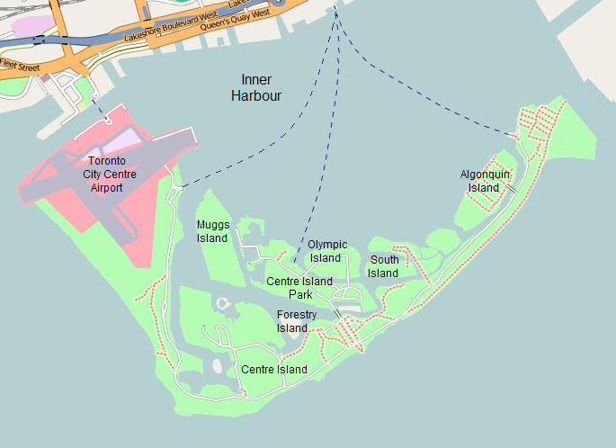 OSM-Toronto Islands with labels