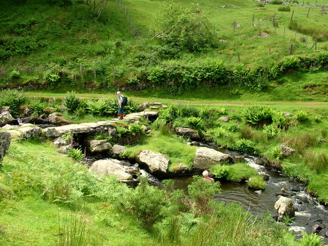 Old Clapper Bridge above Arthog - geograph.org.uk - 610630