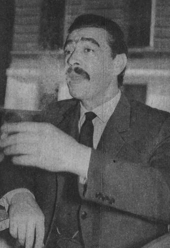 """Osiris en una entrevista para la revista argentina """"Folklore"""" en 1962."""