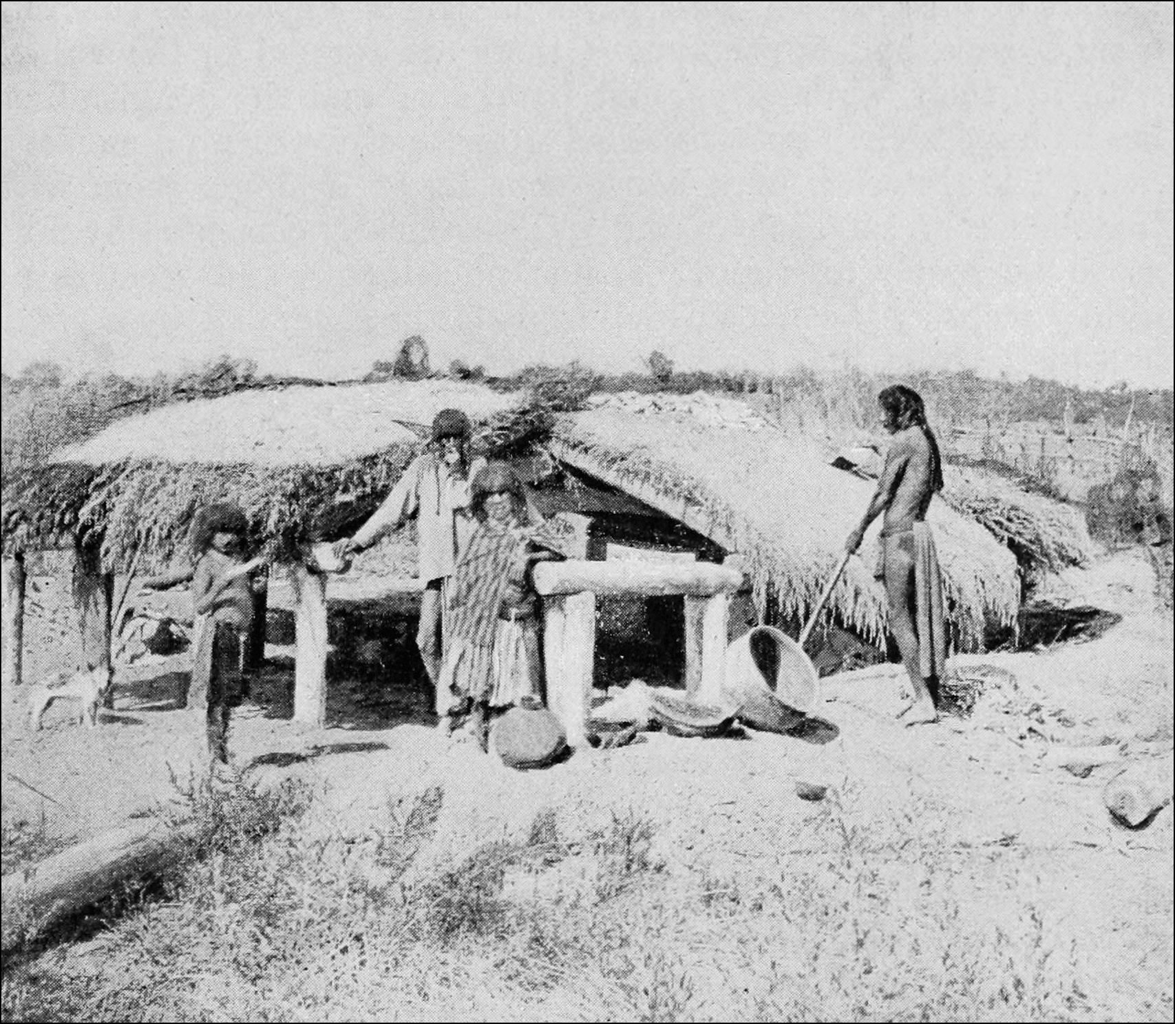 Pictures of Mojave Indian Houses http://commons.wikimedia.org/wiki/File:PSM_V41_D821_House_style_built_by_mojave_indians_of_arizona.jpg