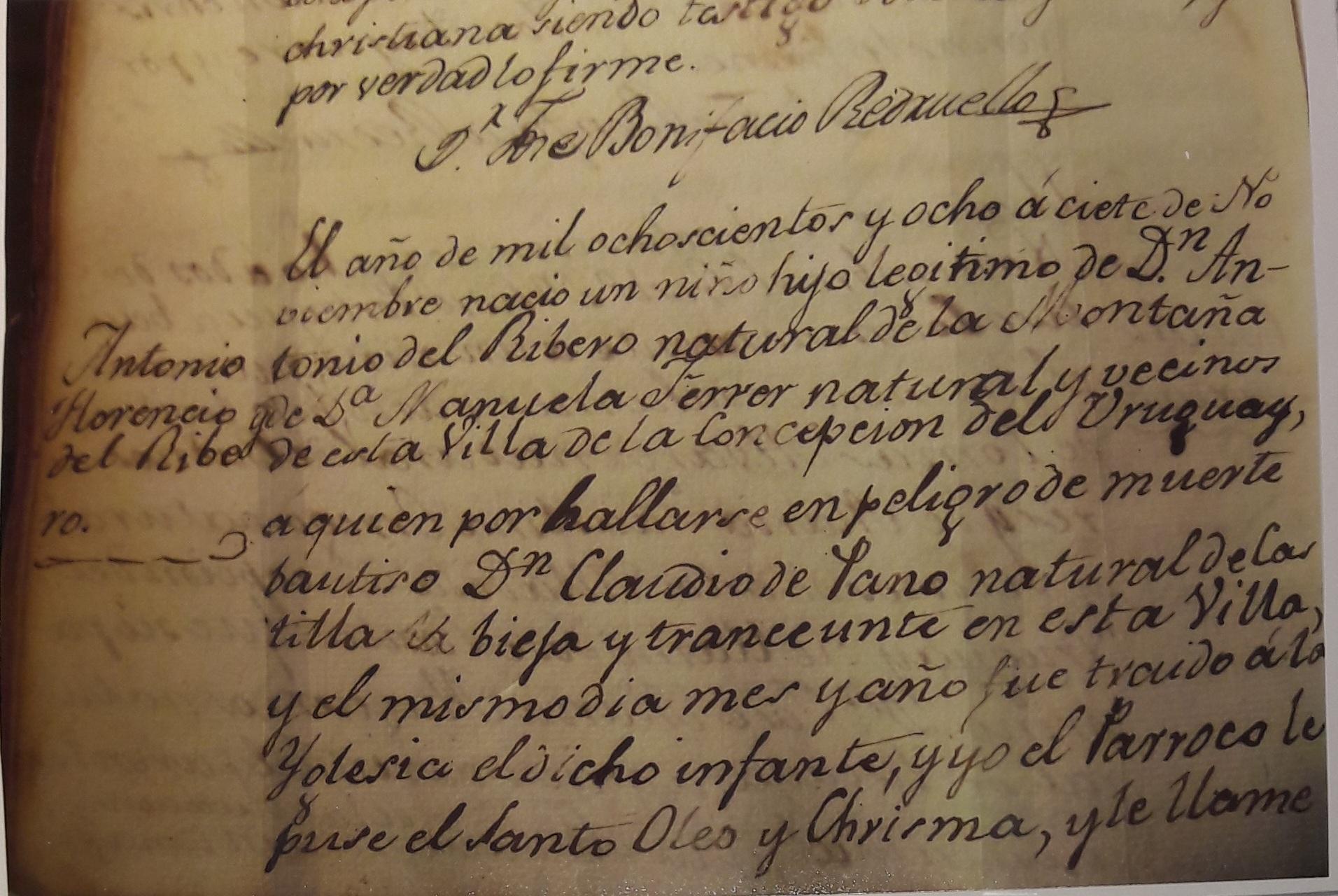Archivo:Partida de nacimiento del Gaucho Rivero.jpg - Wikipedia, la ...