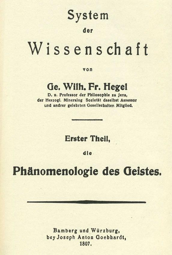 Picture of a book: The Phenomenology Of Spirit