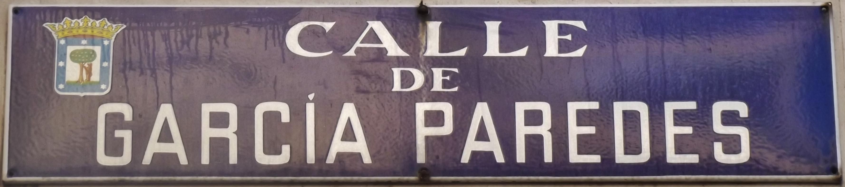 Archivo Placa De La Calle De Garcia De Paredes Cropped Jpg