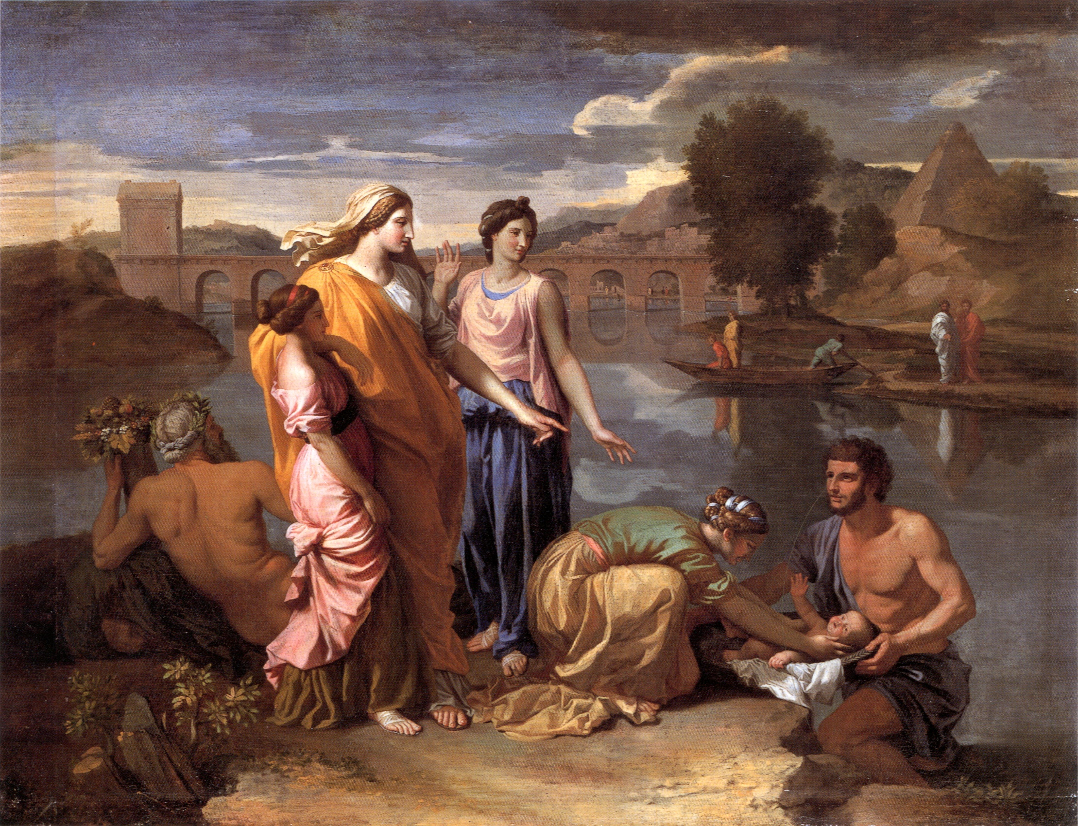 File:Poussin finding of moses 1638.jpg - Wikimedia Commons Moses Painting