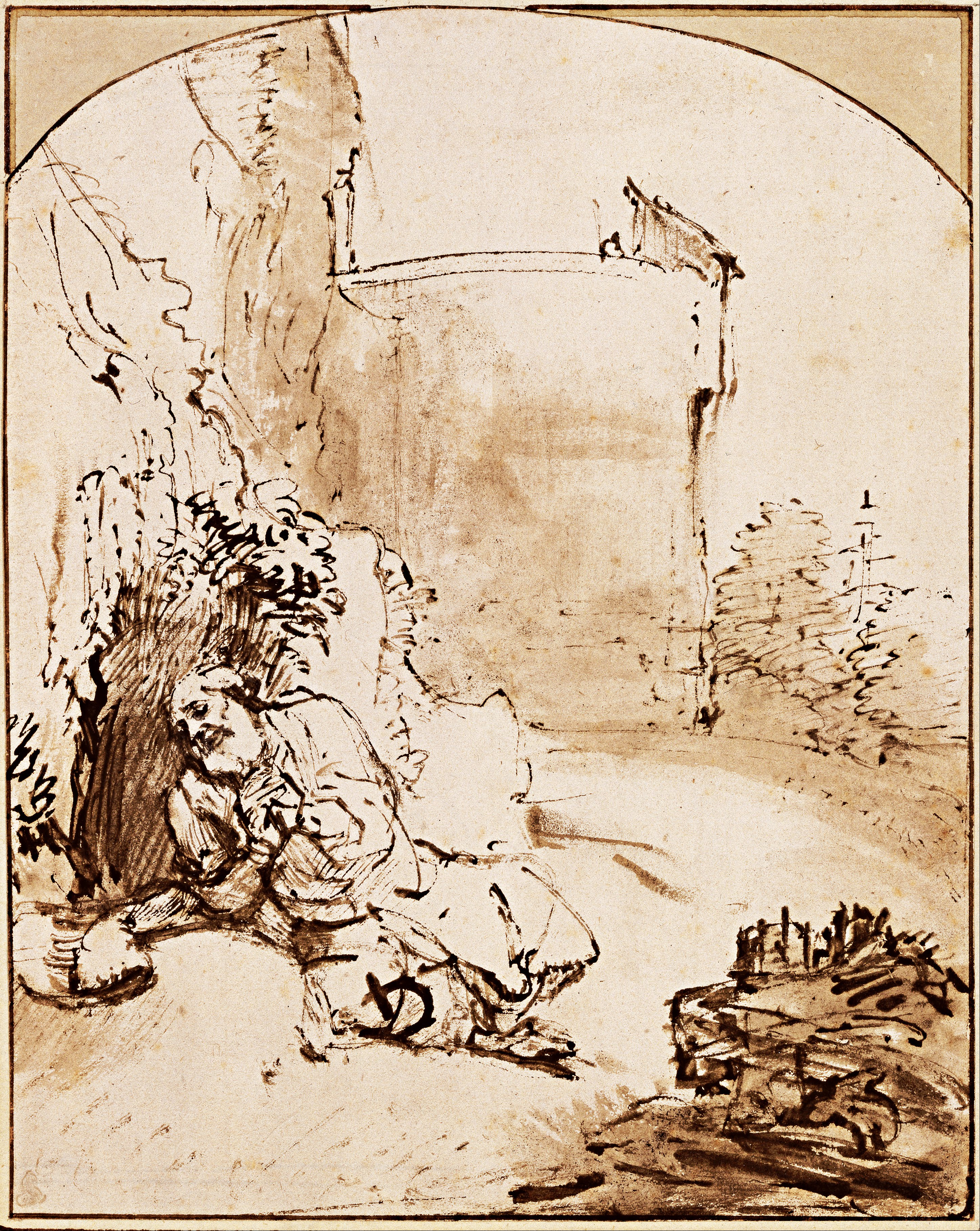 secretos-Dibujo-Rembrandt-profeta-jonás-muros-nínive