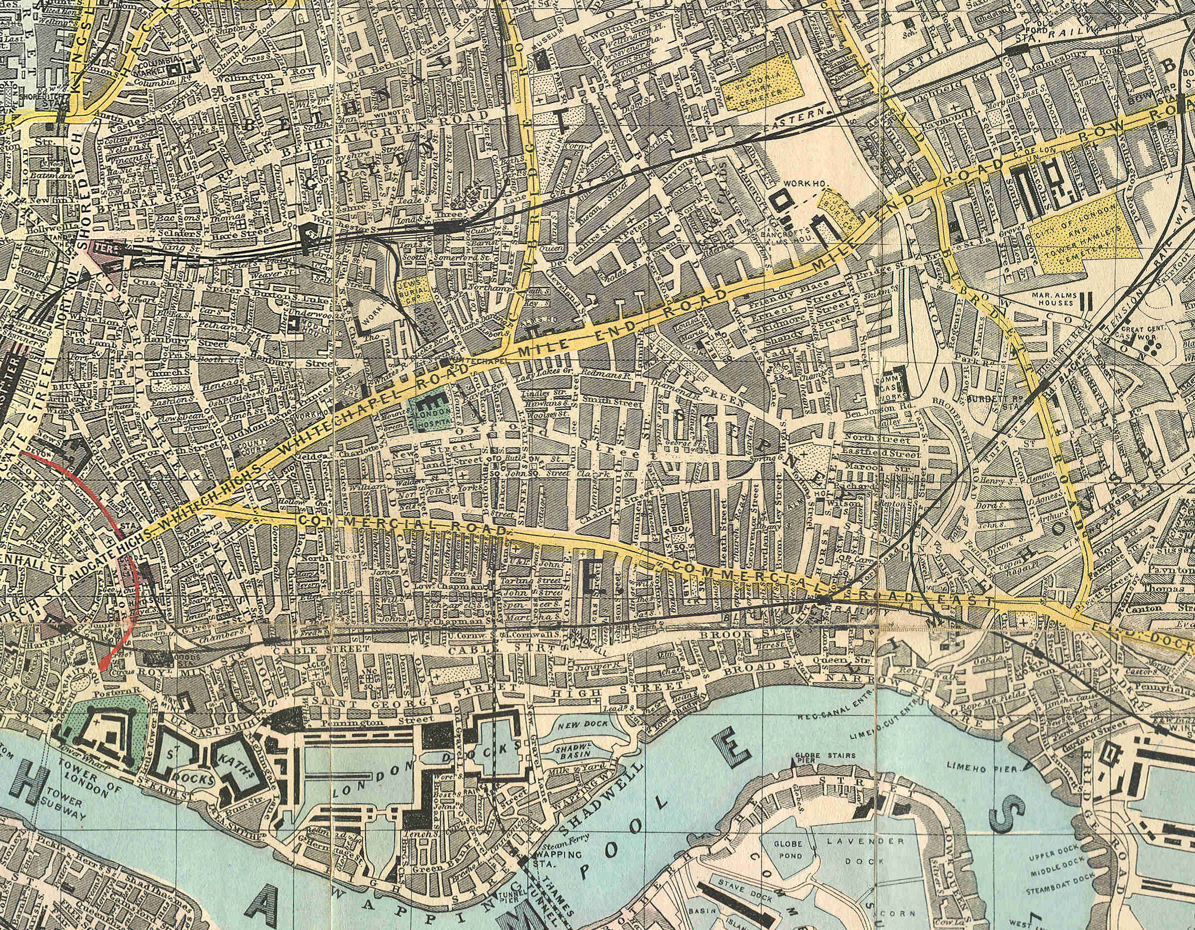File Reynolds 39 map of The East End 1882 JPG Wikimedia Commons