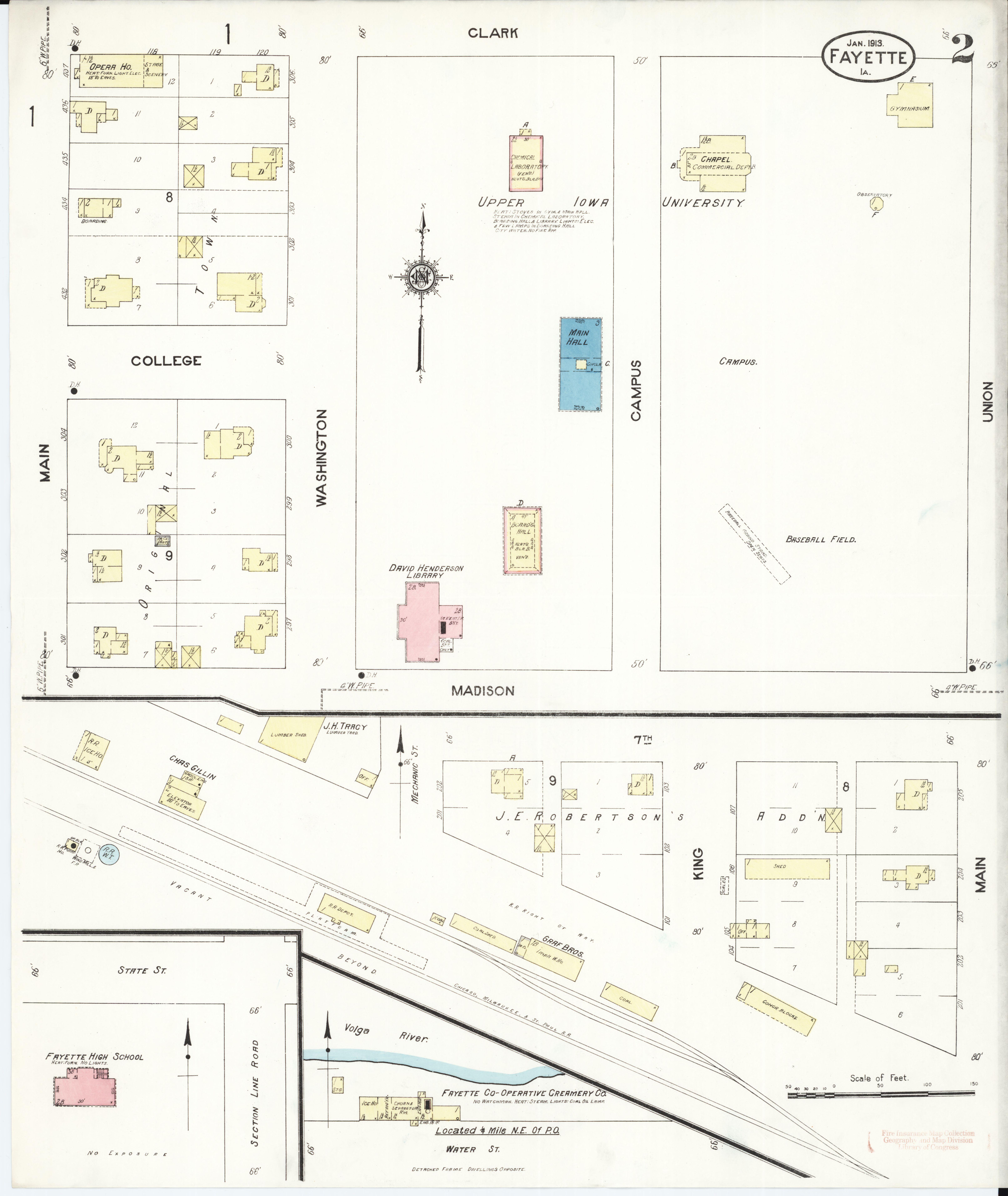 Fayette Iowa Map.File Sanborn Fire Insurance Map From Fayette Fayette County Iowa