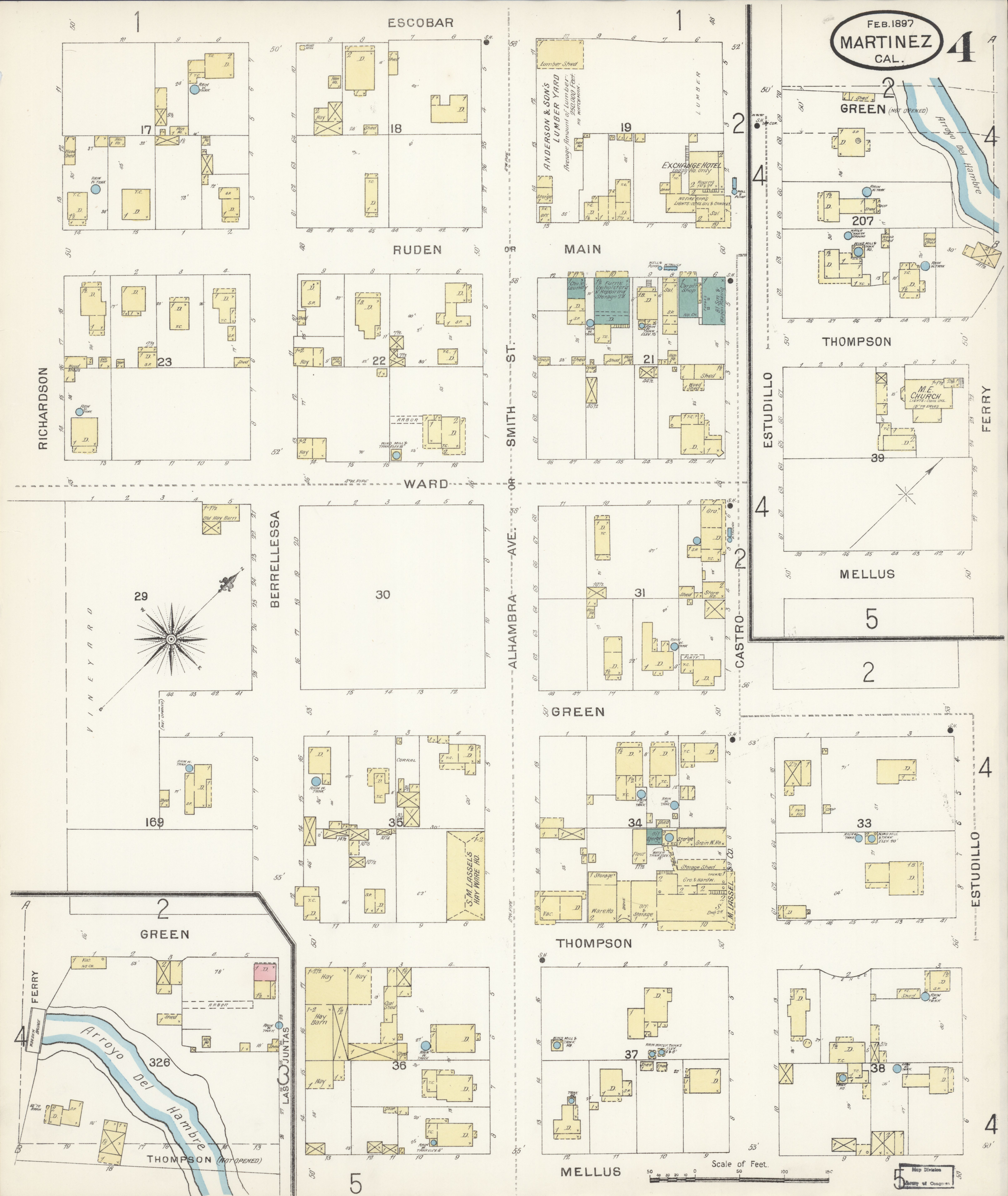 File Sanborn Fire Insurance Map From Martinez Contra Costa County
