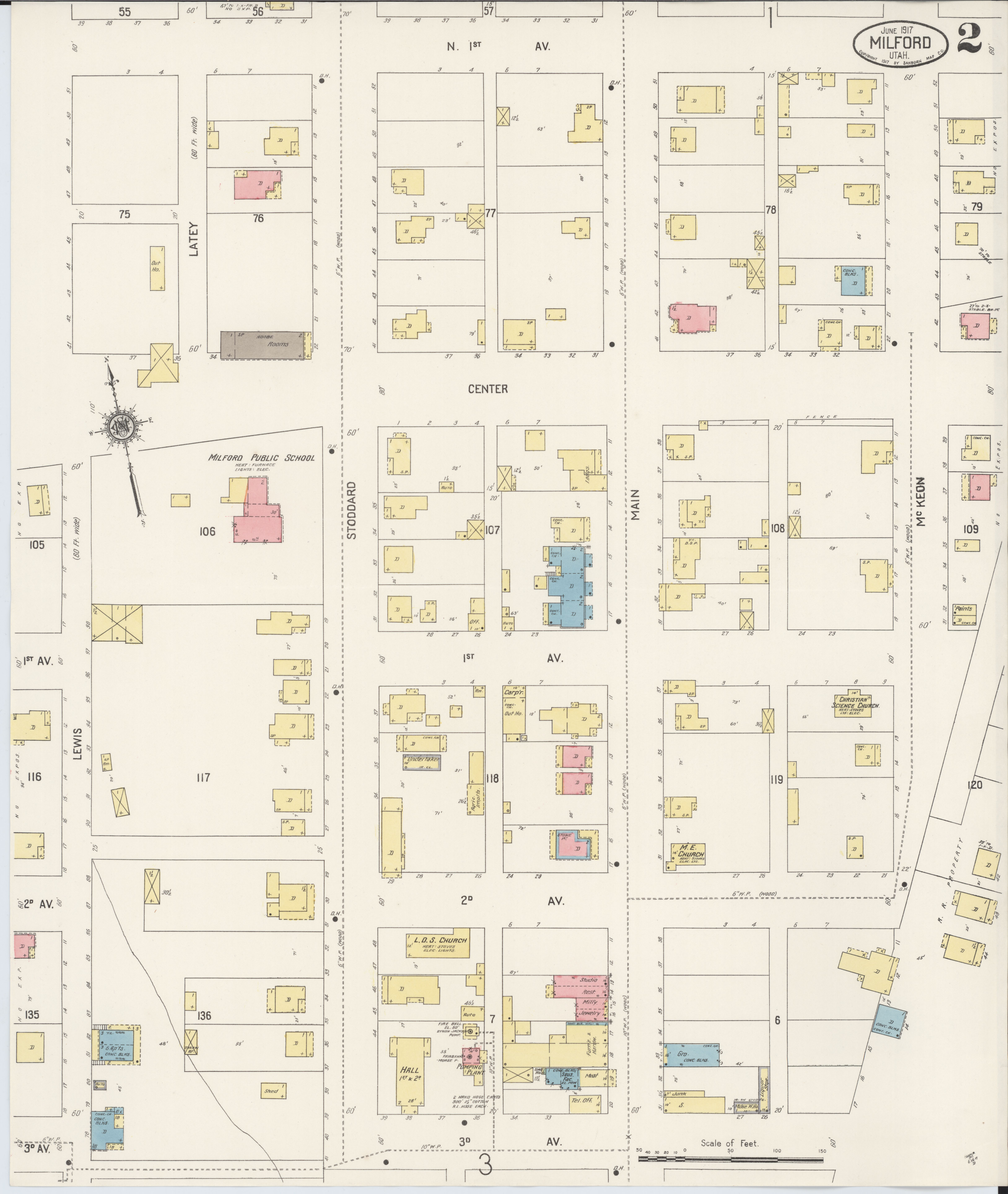 File Sanborn Fire Insurance Map From Milford Beaver County Utah