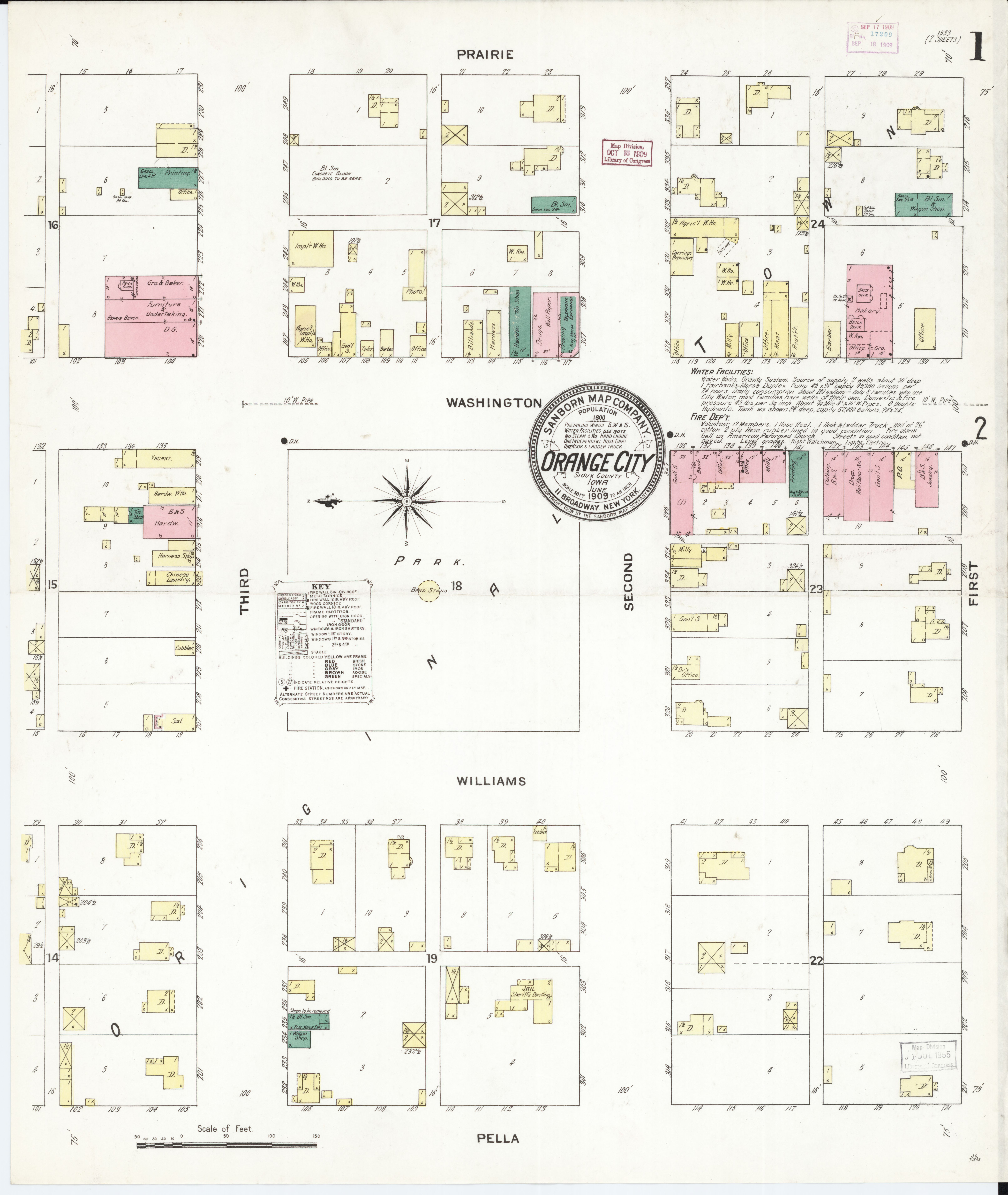 Sioux County Iowa Map.File Sanborn Fire Insurance Map From Orange City Sioux County Iowa
