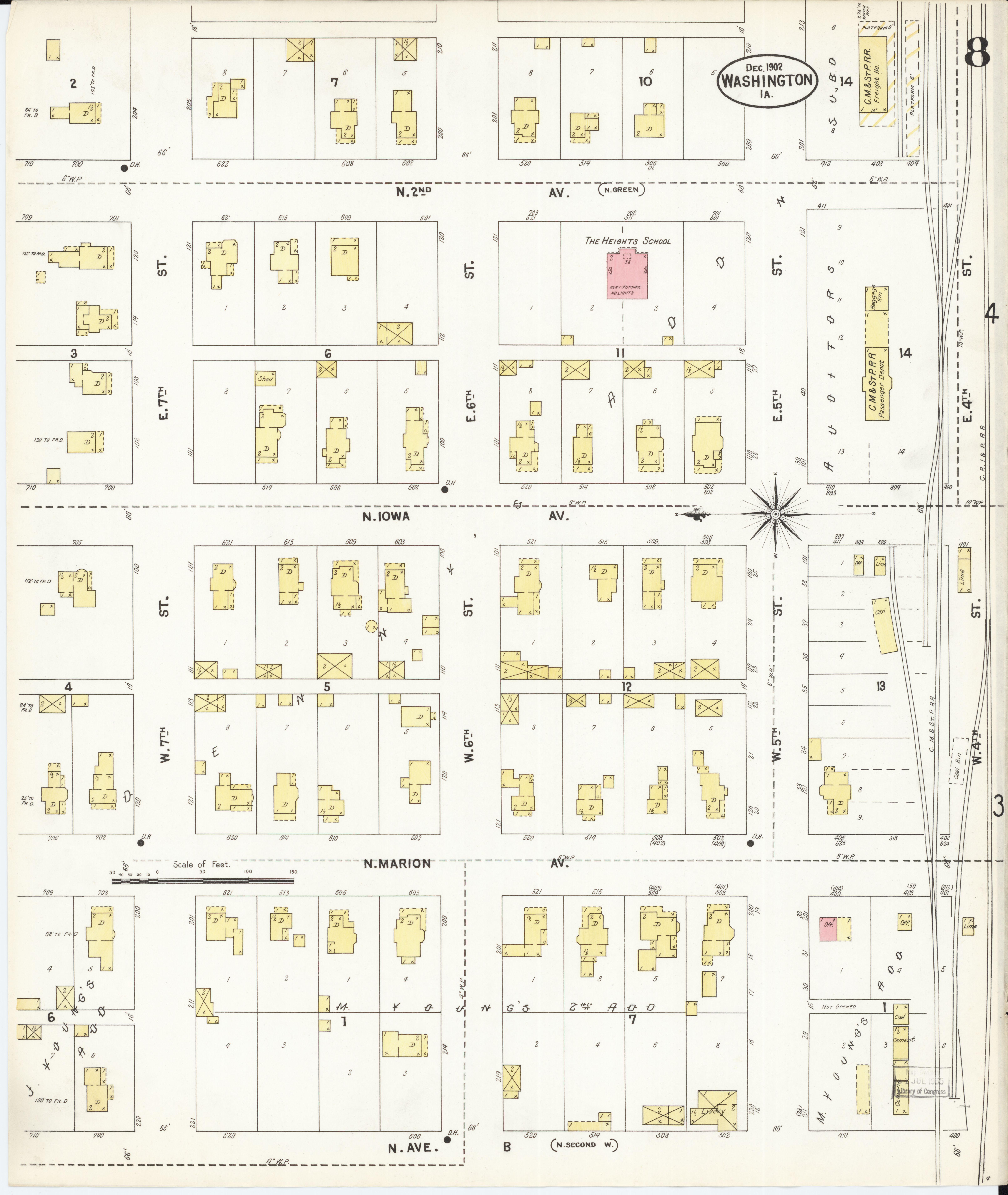 Washington County Iowa Map.File Sanborn Fire Insurance Map From Washington Washington County
