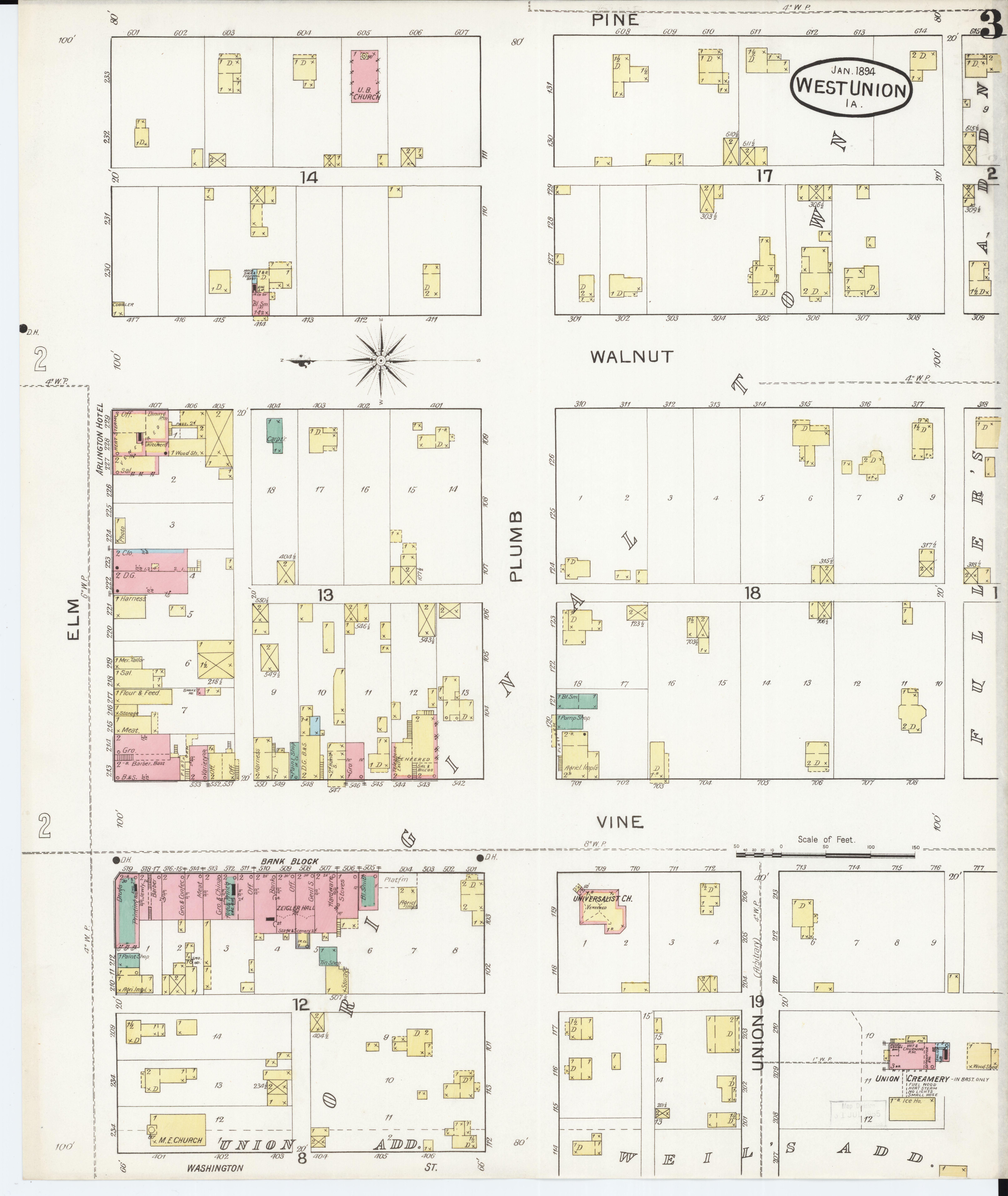 Fayette Iowa Map.File Sanborn Fire Insurance Map From West Union Fayette County