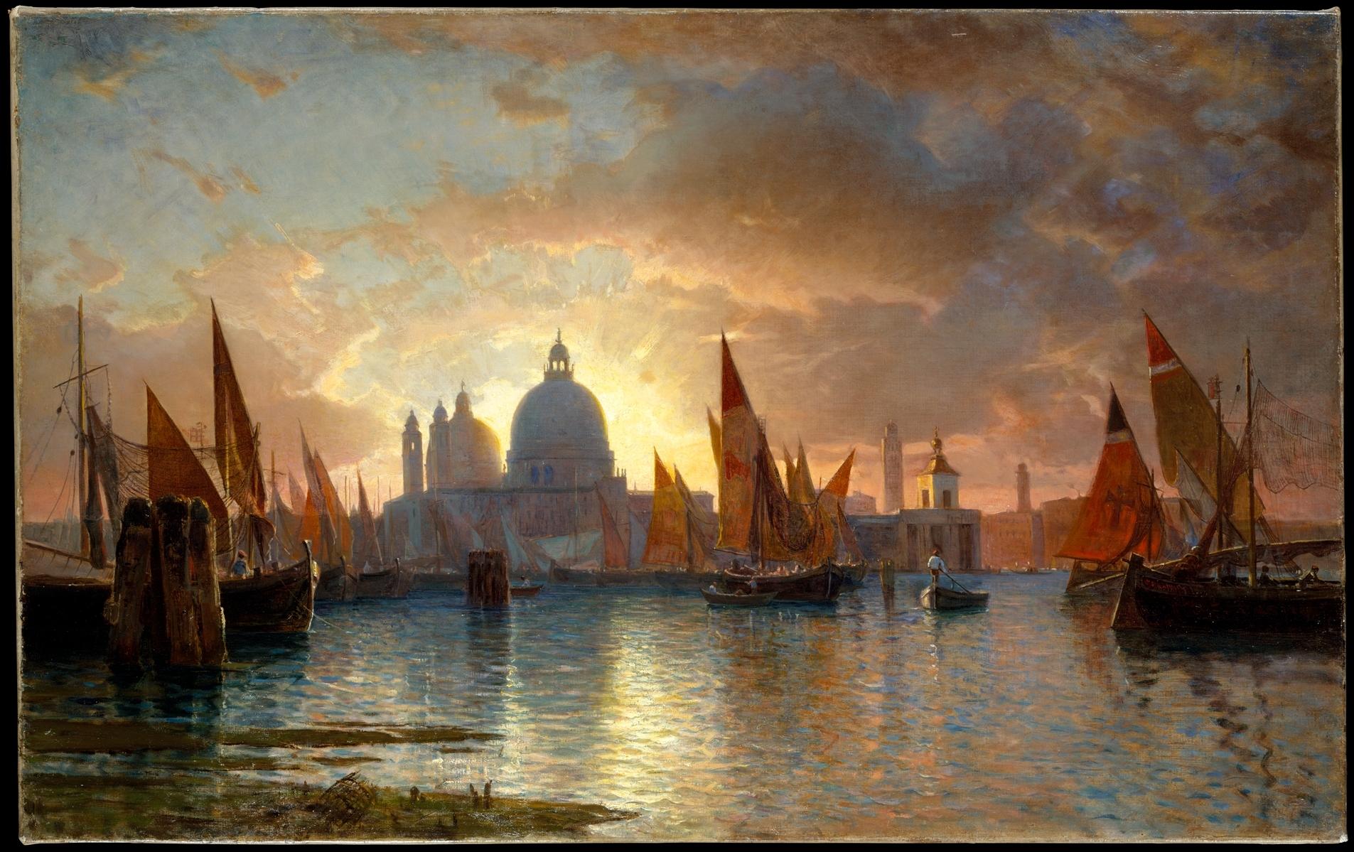 File Santa Maria Della Salute Sunset Oil On Canvas