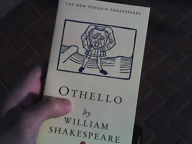 Shakespeare's Othello programme in hand.jpg