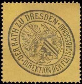 Siegelmarke Der Rath zu Dresden Direktion der Fleischbeschau W0323469