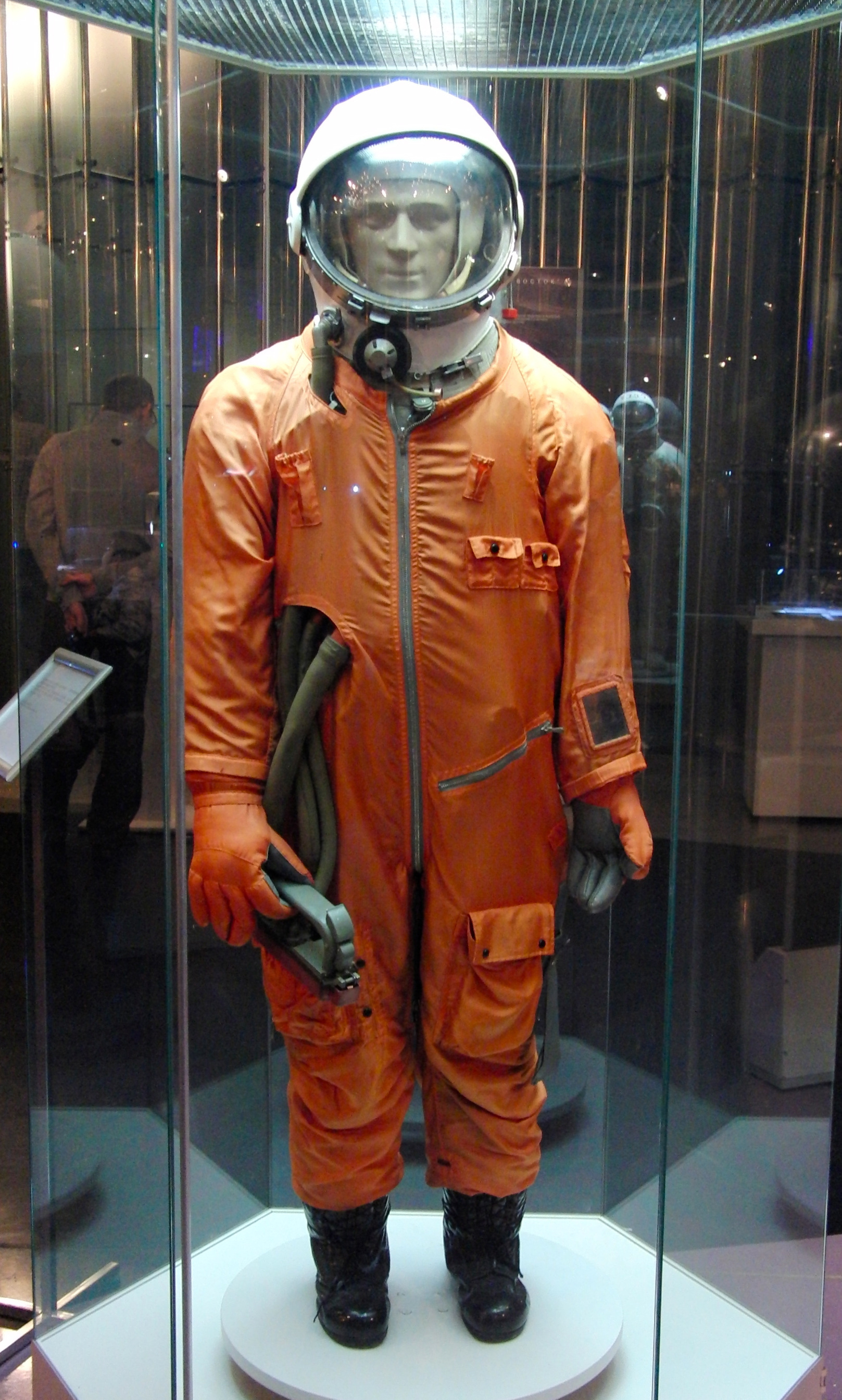File:Sk-1 spacesuit taken at the Memorial Museum of Space Exploration.jpg -  Wikimedia Commons