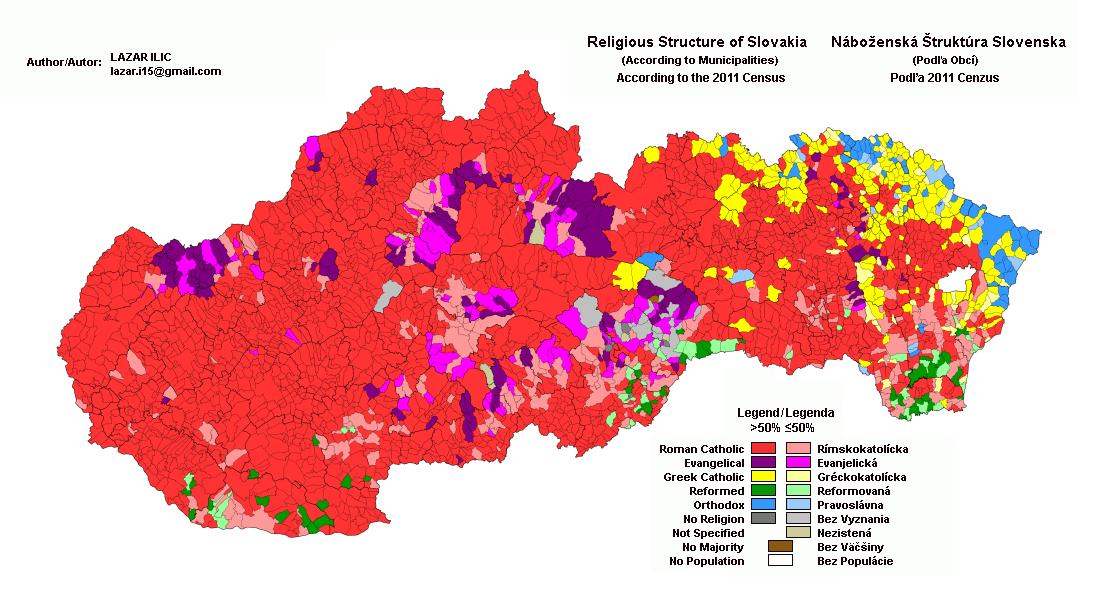 FileSlovakia Religionpng Wikimedia Commons - Religion map of the world 2013