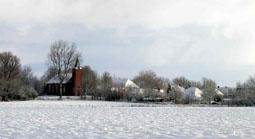 Het bedevaartplaatsje Warfhuizen in de sneeuw, 2004