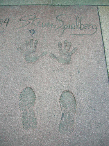 Footprints and handprints of Steven Spielberg in front of the Grauman's Chinese Theatre SpielbergGraumansChinese.jpg