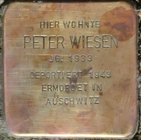 Stolperstein Schlossberg 10, Eisenach-Peter Wiesen-CTH.JPG