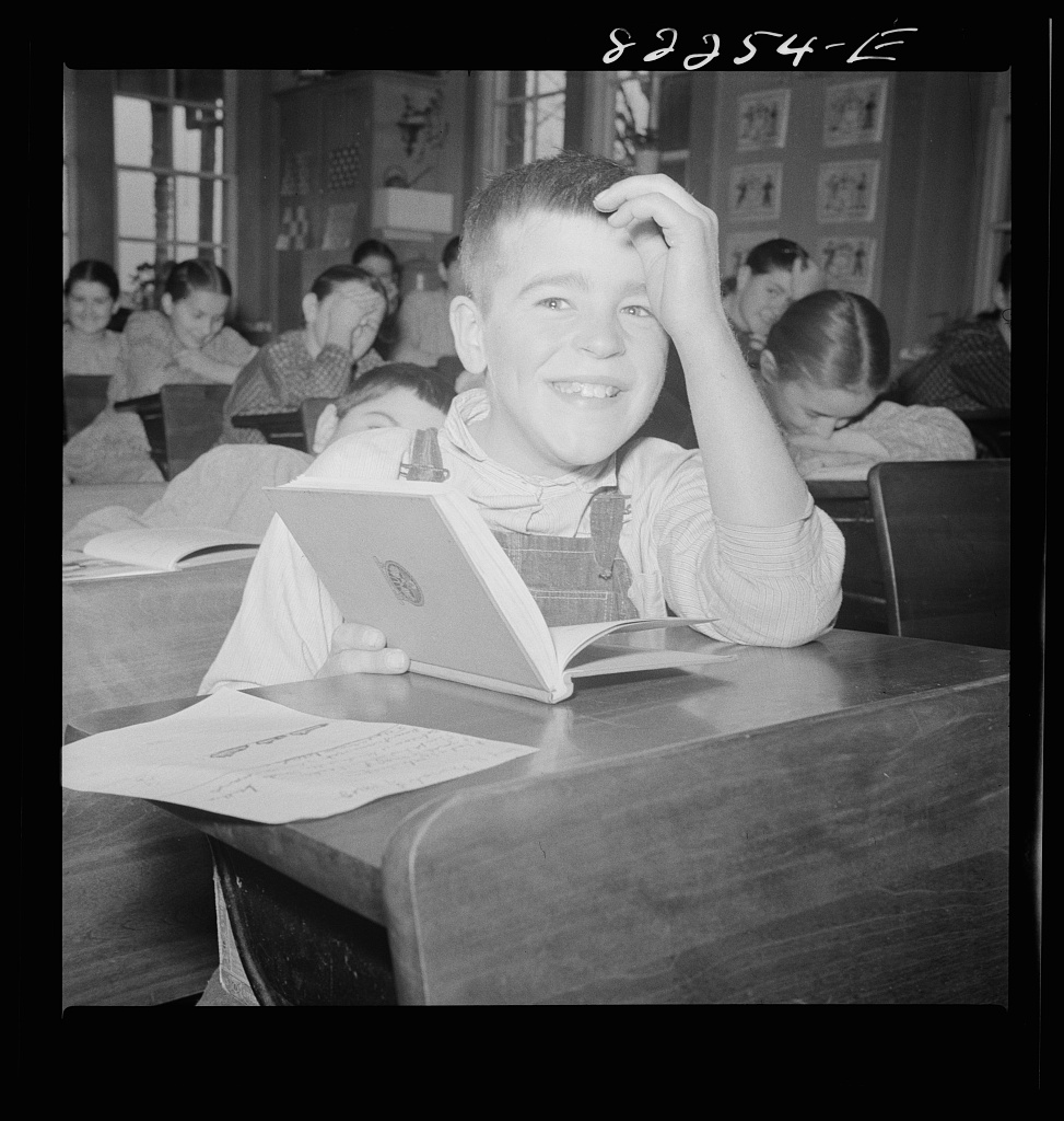 File:Student in Lancaster County Mennonite public school 1942.jpg