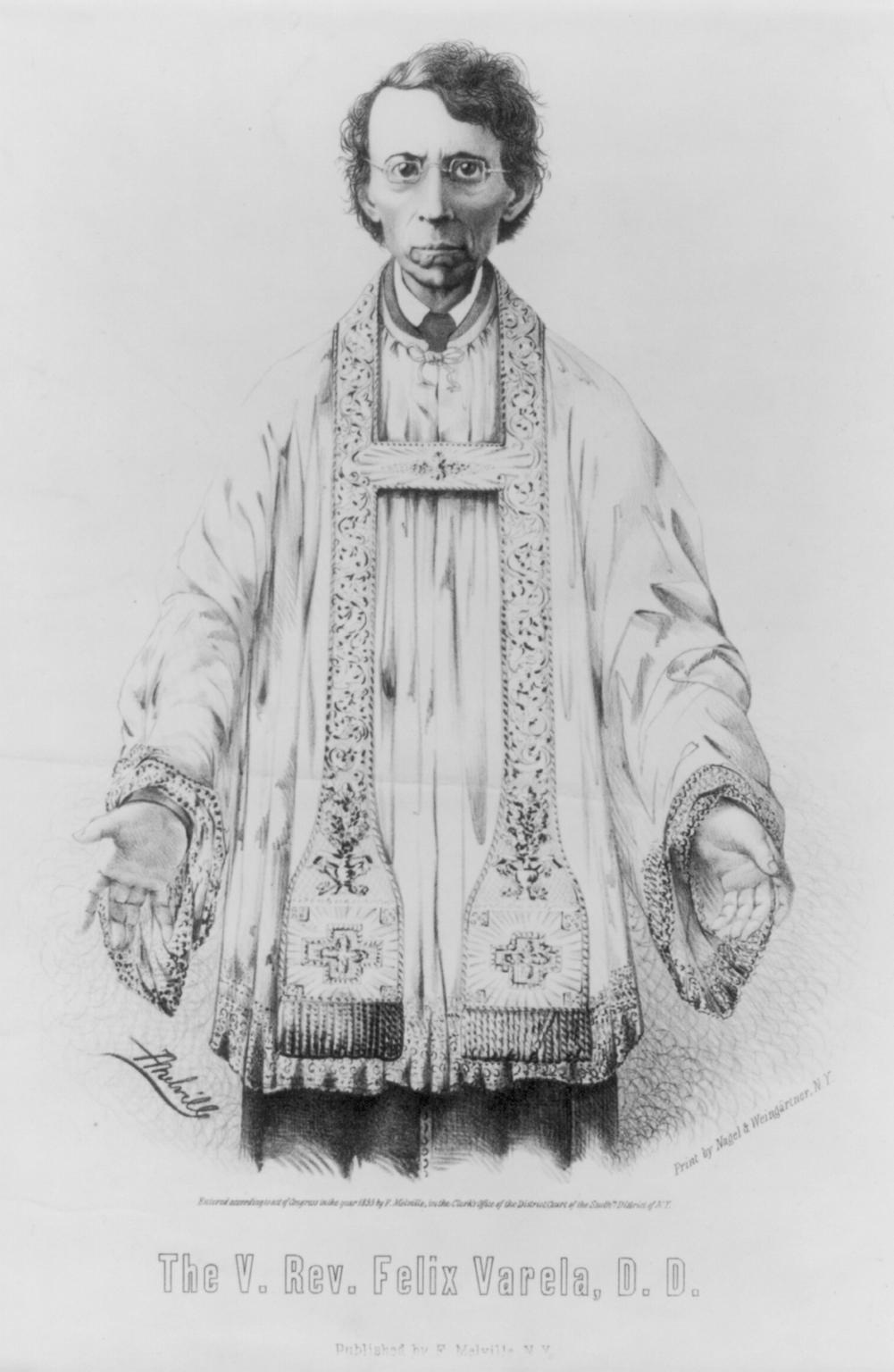 Circa 1853 image of Felix Varela
