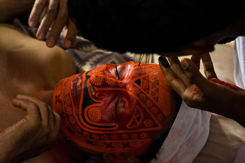 Theyyam make up 1