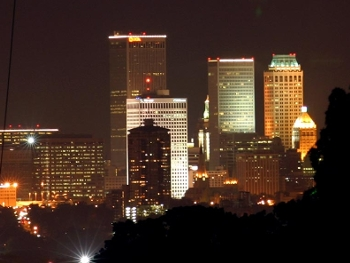 Tulsa by night- from wikimedia commons