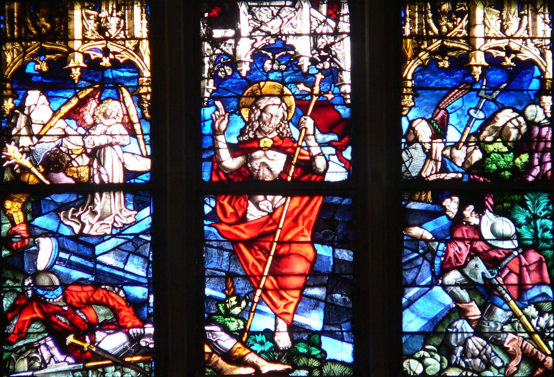 Ulmer Münster - Ratsfenster - Auferstehung
