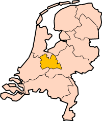 Map: Province of Utrecht in the Netherlands